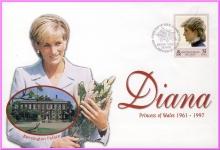 Kensington Palace 31 March 1998 Diana Princess of Wales British Virgin Islands FDI stamp cover refDA7