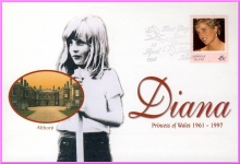 28 April 1998 Norfolk Island Diana Princess of Wales First Day Issue stamp cover refDA10