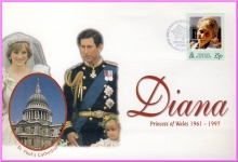 15th May 1998 Diana Princess of Wales TRISTAN DA CUNHA 35p FDI stamp cover refDA40