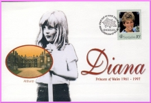SEYCHELLES R3 stamp first day of issue Diana Princess of Wales 1998 refDA71