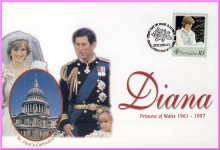 Diana Princess of Wales 31st March 1998 SEYCHELLES FDI R3 stamp cover refDA72
