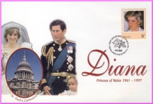 BELIZE 1998 First Day Cover Diana Princess of Wales Royal Wedding refDA74
