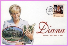 KIRIBATI 75c Diana Princess of Wales 1998 first day of issue stamp cover refDA88