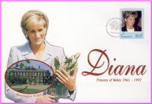 BARBADOS Diana Princess of Wales 1998 first day issue stamp cover refDA91
