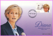 Diana Princess of Wales Oct 15th 1997 GRENADA first day cover refDA106