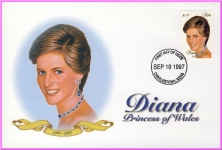 CHARLESTOWN NEVIS Princess Diana 1997 first day cover refDA120