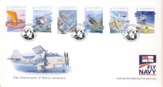 FO2011a Naval Aviation Guernsey Post Alderney FDC First Day Cover