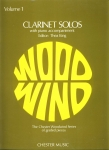 CLARINET SOLOS with piano accompaniment sheet music book ref101518