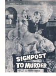 SIGNPOST TO MURDER by Monte Doyle Theatre Programme MARGARET LOCKWOOD ref101678