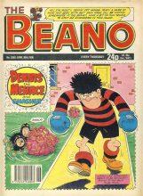 1990 June 30th BEANO vintage comic Good Gift Christmas Present Birthday Anniversary ref282