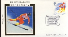 1988 BS10 QS Manchester DOWNHILL RACING Ski Sports Ltd Edition Benham small silk cover shs cd40