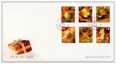 FO1010 2007 Bailiwick Guernsey Post FDC Christmas Deck the Halls 32-71 stamps first day cover