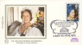 1980 BS8a FDC HM QUEEN MOTHER'S 80TH BIRTHDAY Benham Sm Silk Cover refF506