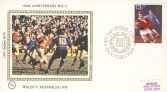 1980 BS7b RUGBY Wales v Australia SPORT stamps Benham Sm Silk Cover refF509