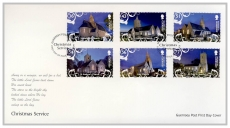 FO1032 2009 Churches stamps 36-77 Christmas Service Guernsey Post Office FDC