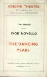 Ivor Novello THE DANCING YEARS Vintage Adelphi Theatre Programme refb1657