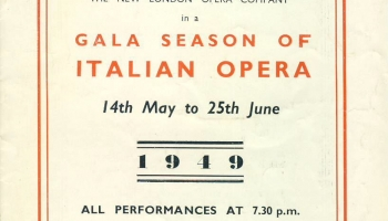 1949 Gala Season of ITALIAN OPERA Stoll Theatre Kingsway Programme refb1679