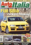 Auto Italia Car Magazine October 2001 Fiat Stilo, Lancia Martini Ferrari ref574