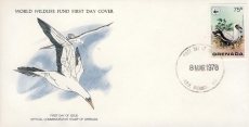 Broad-Winged Hawk bird GRENADA 1978 Stamp World Wildlife Fund First Day Cover FDC refWWF62