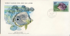 The Foureye Butterfly Fish CASTRIES ST. LUCIA 1978 Stamp World Wildlife Fund First Day Cover FDC refWWF53