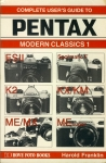 Complete User's Guide to PENTAX Modern Classics 1 1992 Paperback Book refS4