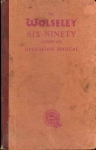VINTAGE TheWolseley Six-Ninety (series III) Operation Manual HB Book ref115