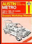 HAYNES 718 AUSTIN METRO MG & Vanden Plas Owners Workshop Manual 1991 HB Book ref103 (1)