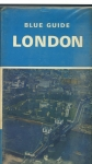 BLUE GUIDE to LONDON 1973 ex library HB Book 346 pages + maps collectable refS4