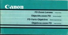Canon FD Zoom Lenses Instructions 70 page booklet 15 x 7cm refS2-06