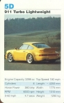5D 911 Turbo Lightweight Porsche Cars Single Top Trumps Card