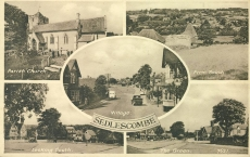1953 SEDLESCOMBE postmark Battle Sussex Vintage Postcard LONG LIVE THE QUEEN refP1