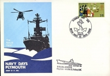 1970 Plymouth Navy Days H.M.S / M. ACHERON Capt. Lt.Cdr.H.Peltor mail carried aboard BFPO 1131 stamp cover refD215