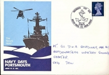 19 Aug 1970 British Forces Postal Service 1132 NAVY DAYS PLYMOUTH stamp cover refD218