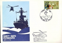 1970 Wessex Helicopter HM5 846 Naval Air Commando Sqn Pilot Lt.Cdr.R.N.Woodland R.N. NAVY DAYS PLYMOUTH BFPS 1131 cover refD219