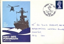 PORTSMOUTH Navy Days 1970 commemorative stamp cover British Forces Post 1132 refD222