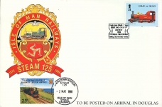 Isle of Man Railway Letter Service stamp 1998 Castletown Station Stean 125 DOUGLAS refD261