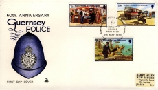 1980 60th Anniversary Guernsey Stamps Police First Day Cover Mercury refE101103