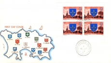 St Mary's Church 1976 Jersey stamps Booklet Pane FDC Mercury cover refE101107