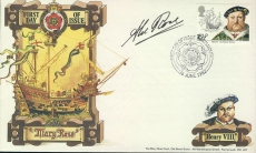 Signed 1982 Mary Rose PORTSMOUTH King Henry VIII first day cover refd0018