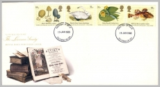 99P 1988-01-19 The Linnean Society Stamps FDC Southend on Sea postmark fdi refE223