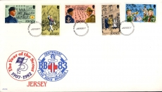 1982 Jersey Scouts and the Boy's Brigade first day of issue stamps cover refE101123