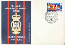 15 Base Ordnance Depot RAOC Siler Jubilee Official FDC stamp cover refD313