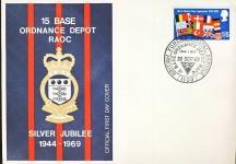 1969 Base Ordnance Depot RAOC NATO First Day Cover refD314