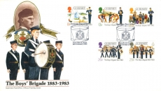 The Boy's Brigade1983 Official Guernsey Post Office First Day Cover Drum shs refE101133