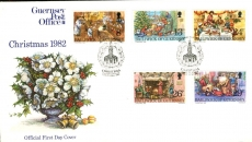 Christmas 1982 Guernsey Post Office stamps Official First Day Cover refE101134