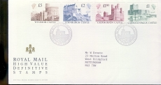 Windsor Castle High Value Definitive stamps cover 1988 FDI WINDSOR refD1781