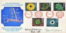 1995 National Postal Museum SIGNED 10th Anniversary Luncheon stamps cover refD191