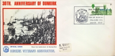 1970 Anniversary of Dunkirk Veterans Official Cover DOVER KENT refd55