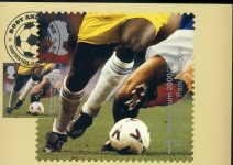 HAMPDEN PARK GLASGOW Allsport Postcard special hand stamp postmark refE158