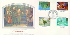 Sotheby's THE HOME QUARTET Arthur Hughes Royal Military School of Music BFPO 2128 1985 stamps cover PPSrefE41